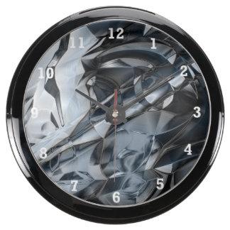 Crome azul relojes pecera