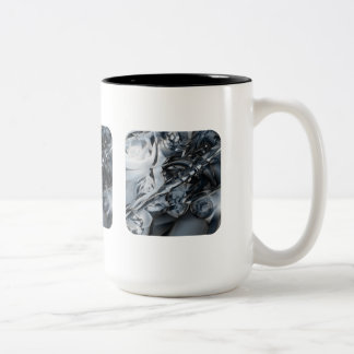 Crome azul taza dos tonos