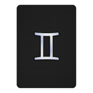 """Crome como muestra del zodiaco de los géminis invitación 5"""" x 7"""""""