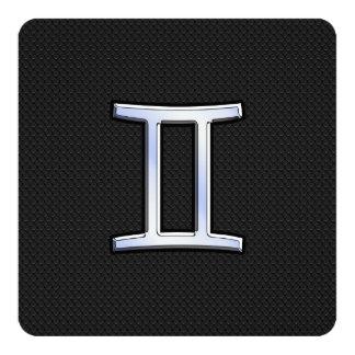 """Crome como muestra del zodiaco de los géminis invitación 5.25"""" x 5.25"""""""