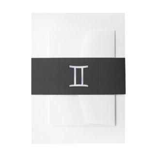 Crome como muestra del zodiaco de los géminis lazos para invitaciones de boda