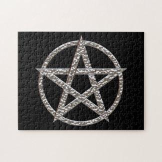 Crome el rompecabezas de la foto del Pentagram