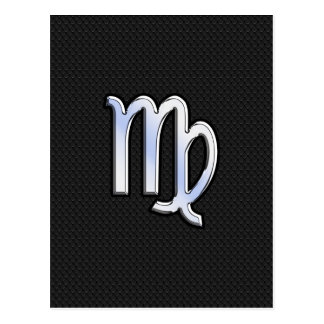 Crome la muestra del zodiaco del virgo en estilo tarjeta postal