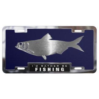 Crome (los falsos) pescados del sábalo con el placa de matrícula