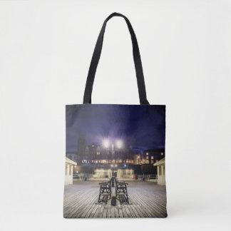 Cromer pier pavilion at night - Norfolk UK Tote Bag