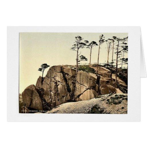 Cromford, las rocas negras, cla de Derbyshire, Ing Felicitación