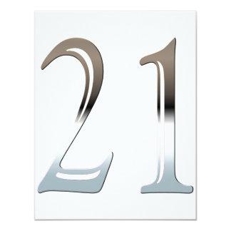 """Cromo 21 invitación 4.25"""" x 5.5"""""""