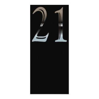 """Cromo 21 invitación 4"""" x 9.25"""""""