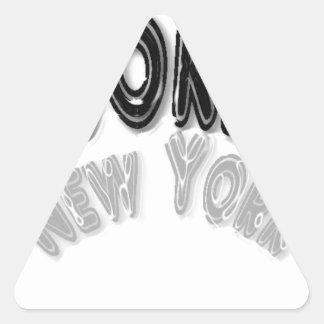 Cromo Arch. de Brooklyn Pegatina Triangular