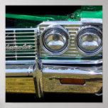 cromo clásico del impala con la pintura verde impresiones