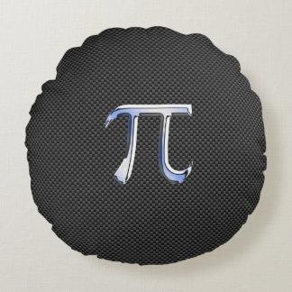 Cromo como símbolo del pi en la impresión de la cojín redondo