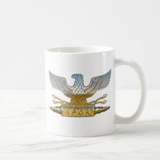 Cromo de Eagle de la legión Taza Básica Blanca
