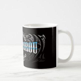 Cromo de Moko del Lifer de Ngati Porou Tazas De Café