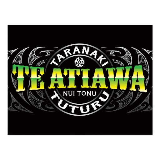 Cromo de Moko del Lifer de Te Ataiawa Tarjetas Postales