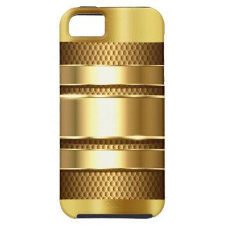 Cromo de oro 3 de la malla de la tecnología iPhone 5 Case-Mate protector