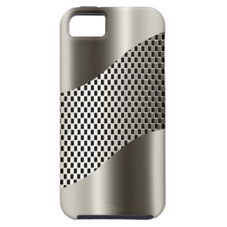 Cromo de plata 2 de la malla de la tecnología iPhone 5 cárcasas