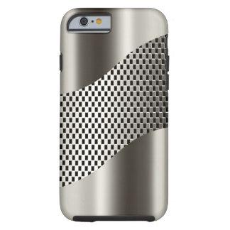 Cromo de plata 2 de la malla de la tecnología funda de iPhone 6 tough