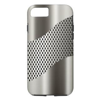 Cromo de plata 2 de la malla de la tecnología funda iPhone 7