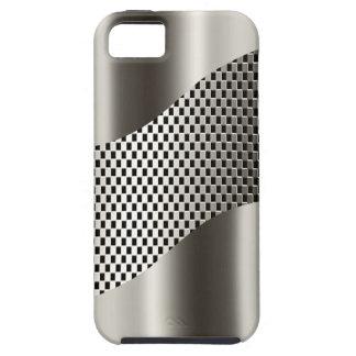 Cromo de plata 2 de la malla de la tecnología funda para iPhone SE/5/5s