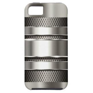 Cromo de plata 3 de la malla de la tecnología funda para iPhone SE/5/5s