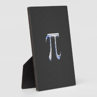 Cromo de plata como símbolo del pi en la impresión placa