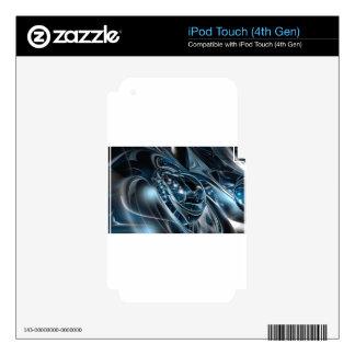 Cromo del espacio iPod touch 4G calcomanías