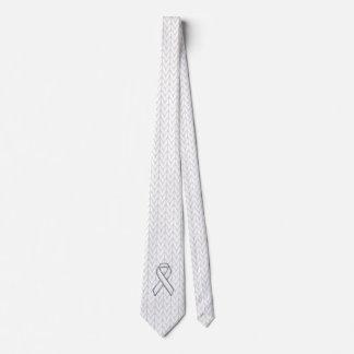Cromo en la impresión de la conciencia de la cinta corbatas personalizadas