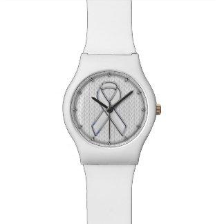 Cromo en la impresión de la conciencia de la cinta reloj de mano