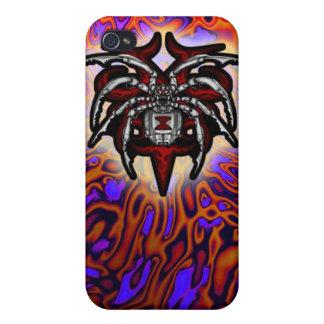 Cromo ilustrado araña de la viuda negra iPhone 4/4S funda
