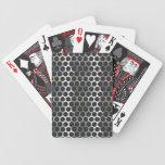 Cromo, malla metálica que mira el diseño de acero baraja cartas de poker
