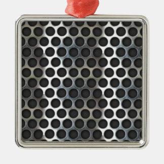 Cromo malla metálica que mira el diseño de acero ornato