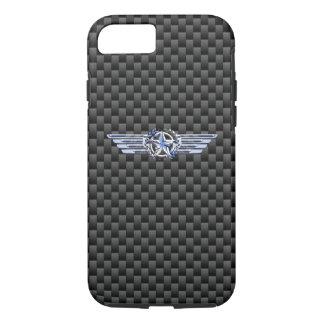 Cromo privado general del piloto del aire como las funda iPhone 7