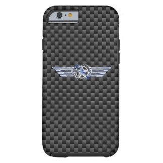Cromo privado general del piloto del aire como las funda resistente iPhone 6