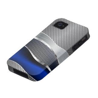 Cromo y zafiro futuristas de alta tecnología de la carcasa vibe iPhone 4