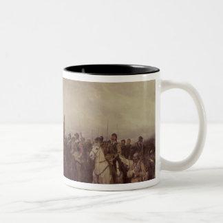 Cromwell at Dunbar, 1650 Two-Tone Coffee Mug