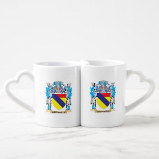 Cromwell Coat of Arms - Family Crest Couples' Coffee Mug Set