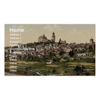 Cronberg, Frankfort on Main (i.e. Frankfurt am Mai Business Card Template