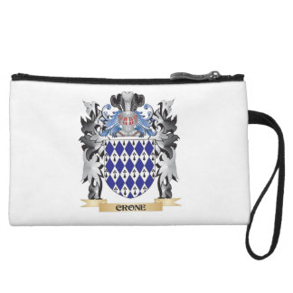 Crone Coat of Arms - Family Crest Wristlet Clutch