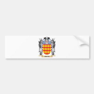 Crone Coat of Arms - Family Crest Car Bumper Sticker