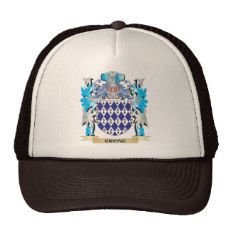 Crone Coat of Arms - Family Crest Mesh Hat