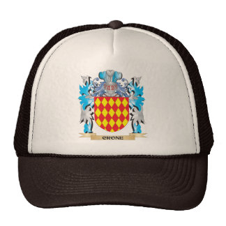 Crone- Coat of Arms - Family Crest Mesh Hats