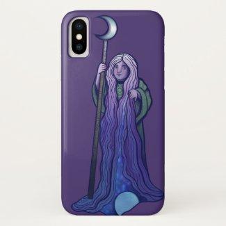 Crone Moon Goddess Pagan Art Wiccan MoonChild Case-Mate iPhone Case