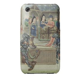 Crónica de Fr.16830 f.16v de Jacques de Lalain iPhone 3 Carcasa