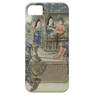Crónica de Fr.16830 f.16v de Jacques de Lalain iPhone 5 Carcasa