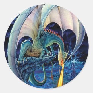 Crónicas del dragón etiqueta redonda