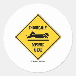 Crónico (sueño) a continuación muestra privada pegatina redonda