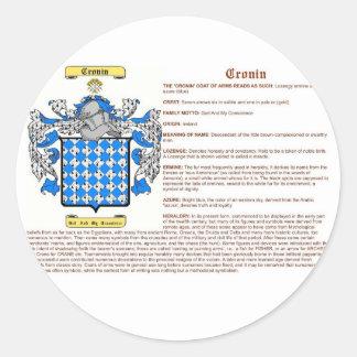 Cronin (significado) pegatina redonda