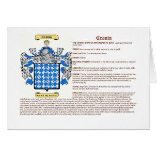 Cronin (significado) tarjeta de felicitación