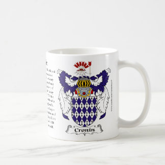 Cronin, the Origin, the Meaning and the Crest Coffee Mug
