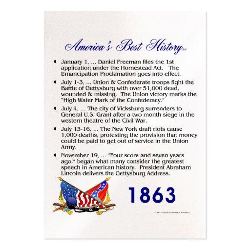 Cronología 1863 de ABH Tarjetas De Visita Grandes